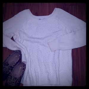 The Limited Knit white sweater